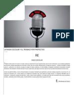 La Radio Escolar y El Trabajo Por Proyectos - Ined21