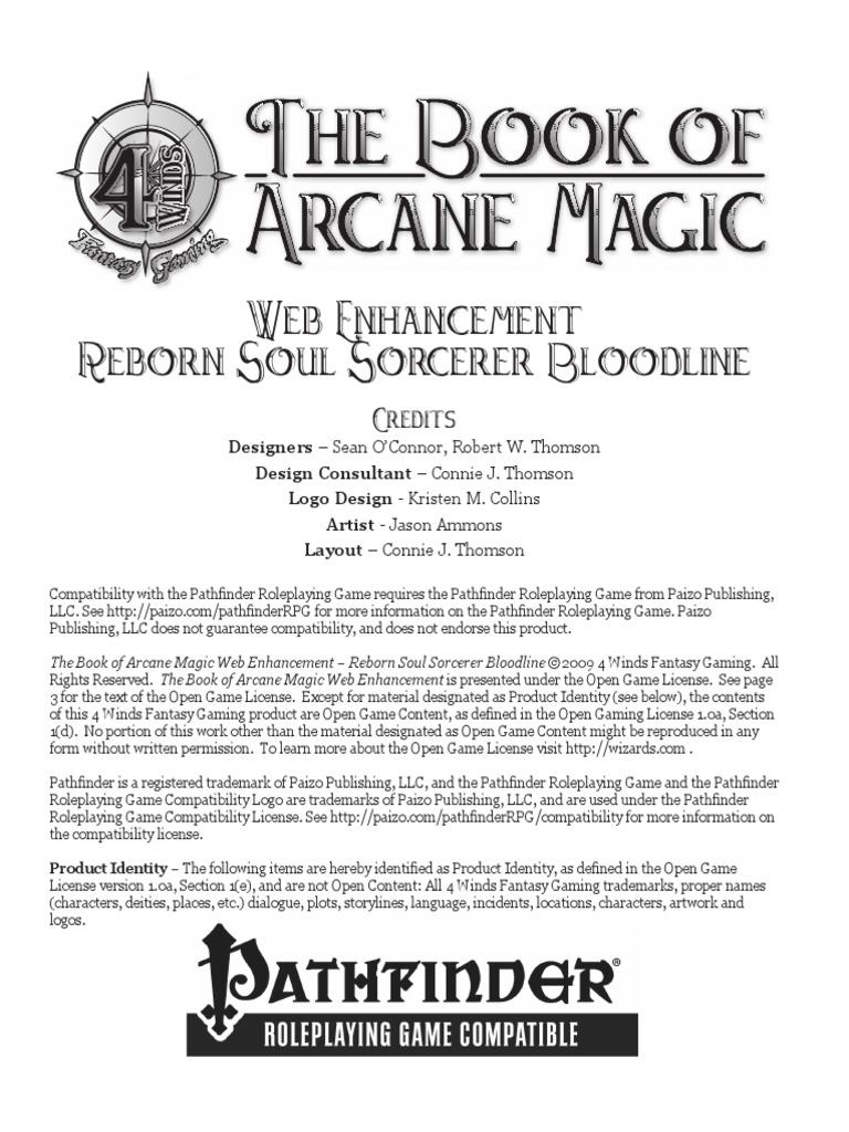 Book of Arcane Magic - WE - Reborn Soul Sorcerer Bloodline