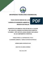 Diagnóstico Documental Para Estudio de La Calidad Del Agua en La Reserva de Producción Faunística
