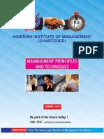Management Principles and Techniques-1