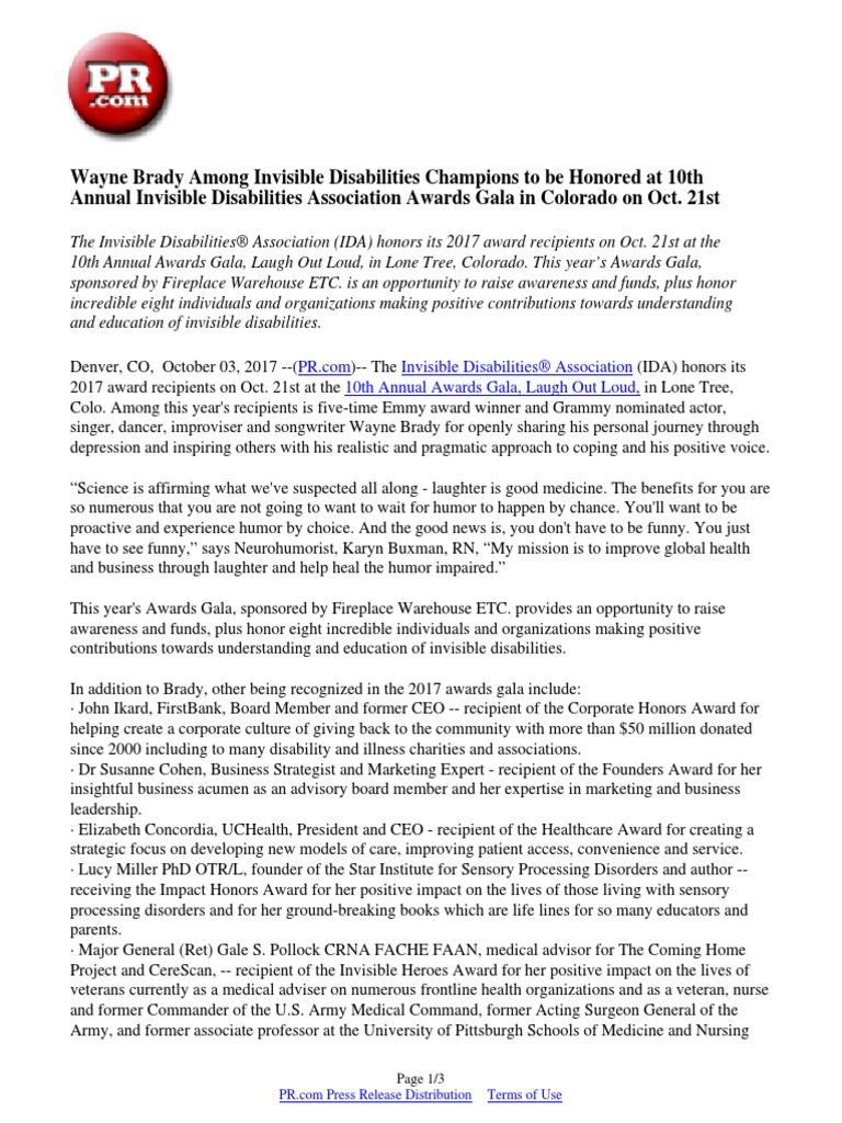 Wayne brady among invisible disabilities champions to be honored wayne brady among invisible disabilities champions to be honored at 10th annual invisible disabilities association awards gala in colorado on oct 21st xflitez Choice Image