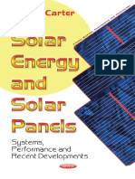 (Energy Science Engineering and Technology Series) Carter, Joel G-Solar Energy and Solar Panels_ Systems, Performance and Recent Developments-Nova Publishers (2017)