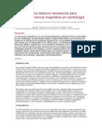 Conocimientos Básicos Necesarios Para Realizar Resonancia Magnética en Cardiología