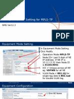 1.NE Setting for MPLS-TP