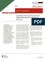Alteracoes Ao Regime Do Arrendamento Urbano Em 2015