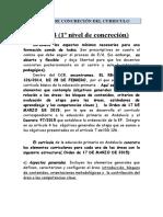 Niveles de Concreción Curricular y Cuadro Explicativo (1)