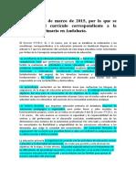 Orden de 17 de Marzo de Curriculo de Andalucia