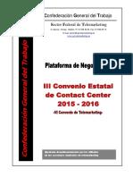 Plataforma CGT VI Convenio de Contact Center