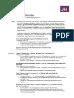 jordan house-resume