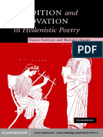 Marco Fantuzzi, Richard Hunter Tradition and Innovation in Hellenistic Poetry