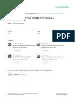 An Updated Review on Bidens Pilosa L