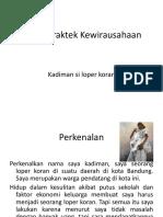 Tugas Praktek Kewirausahaan