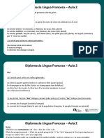 Língua Francesa - Aula 02