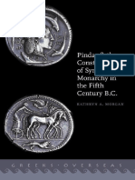 Kathryn a. Morgan Pindar and the Construction of Syracusan Monarchy in the Fifth Century B.C.