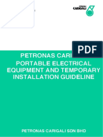 PETRONAS Carigali Portable Electrical Equipment and Temporary Installation Guidelines (PETI)[2]