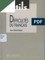 Outils. Difficultes Du Francais