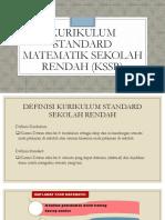 Kurikulum Standard Matematik Sekolah Rendah1