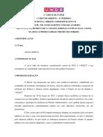 1º Check de Paper de Direito Administrativo II