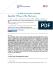 Utilization of Milk as an Oral Contrast Agent in CT Scan of the Abdomen