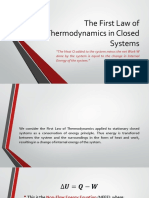 The First Law of Thermodynamics in Closed Systems Edited
