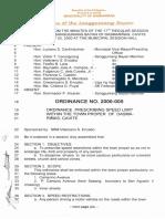 Dasmarinas Cavite 20000502 Ordinance Prescribing Speed Limit Within Town Proper of Dasmarinas