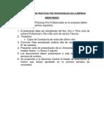 Documentos Para Practicas Pre Profesionales en La Empresa