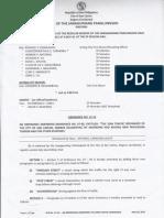 San Carlos Pangasinan 20150528 Ordinance Amending 2006 Traffic Ordinance of San Carlos City