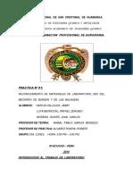 Informe de La Boratorio de Quimica 1