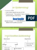 1. Desain Penelitian Epidemiologi