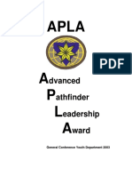 Advanced Pathfinder Leadership Award