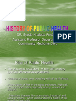 History of PH@ Community Medicine