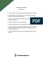 Bioquimica Primer Parcial 2do Cuatri 2013