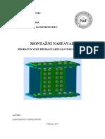 Metalne Konstrukcije - Primjer (Montazni Nastavak)