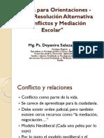Resolución Alternativa de Conflictos y Mediación Escolar