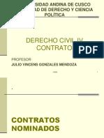 DERECHO CIVIL Y TIPOS DE CONTRATO