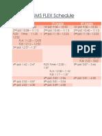 ngms flex schedule