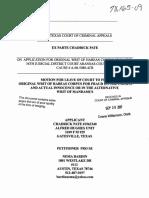 Original Writ of Habeas Corpus Extrinsic Fraud and Actual Innocence Chadrick Pate
