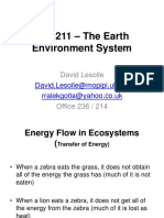 Lecture 7 201718 Earth Science ENS211 – the Earth Environment System