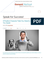 9 Positive Character Traits You Need to Show When You Speak