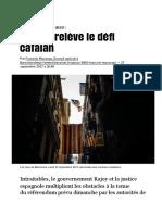 Madrid relèvele défi catalan - Libération