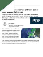 Portugal Continua Entre Os Países Mais Pobres Da Europa - Conjuntura - Jornal de Negócios
