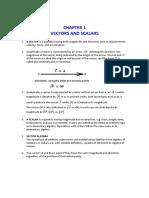 No. 1 Vectors and Scalars