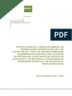 Instrucciones Curso 2017-18 Consolidadas Con Master