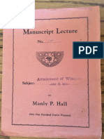 Hall, Manly P. - Manuscript Lectures No.15 - Attainment of Wisdom