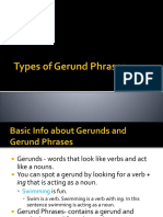Types of Gerunds