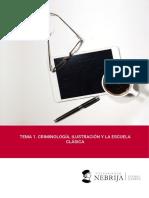 Tema 1. Criminología, Ilustración y La Escuela Clásica . Claudio Paya Santos. Grado en Seguridad 2017