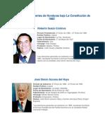 Ultimos 10 Presidentes de Honduras