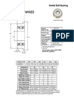 F693ZZ Flanged Miniature Bearing 3x8x4mm
