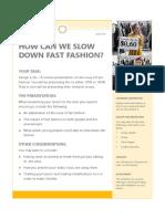 fast fashion activity