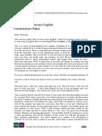 How to Write Correct English PRESENTATION